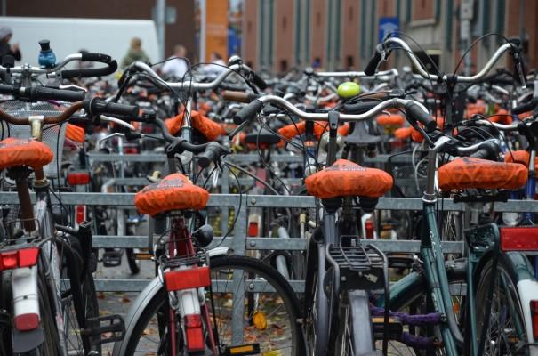 Radparkplatz am Bahnhof Münster © entdecker-greise.de