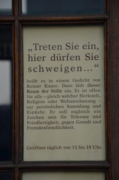 Eine schöne Idee - der Raum der Stille in Berlin ©entdecker-greise.de