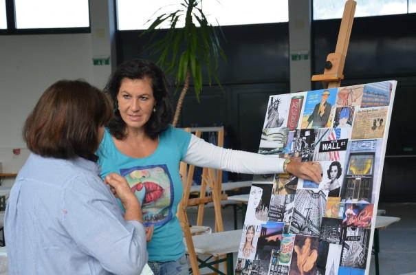 Bildbesprechung mit Karin Angerer ©entdecker-greise.de