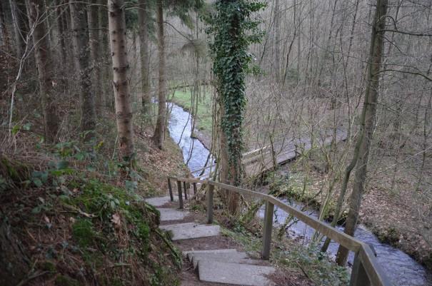 Kurz vor dem Ende der Etappe wird es nochmal spannend auf dem Bergischen Weg. ©entdecker-greise.de