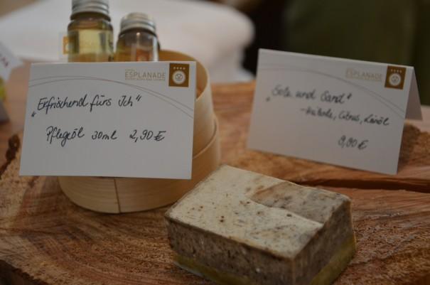 Die eingens für das Haus kreierte Peeling-Seife ©entdecker-greise.de
