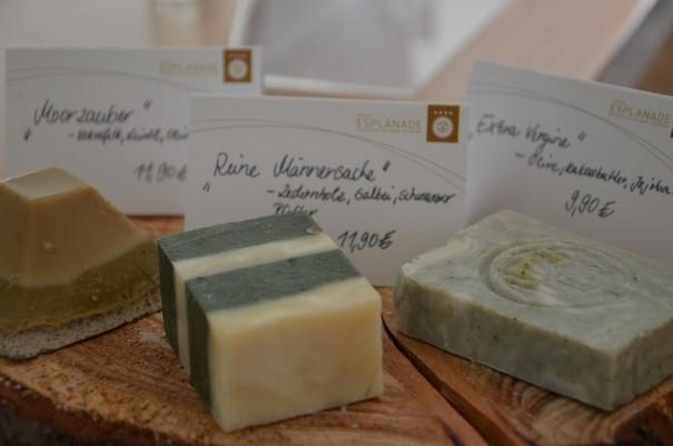 Kostbare Schätze aus der hauseigenen Seifenmanufaktur des Hotel Esplanade Resort & Spa ©entdecker-greise.de