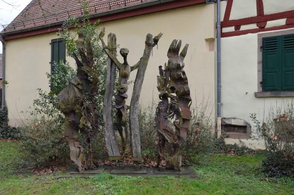 Skulptur im Schlosspark Rockenhausen ©entdecker-greise.de