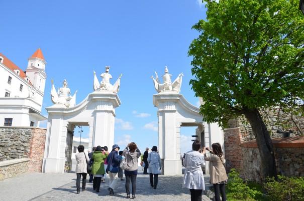Was für ein majestätischer Empfang hier in der Burg Bratislava. ©entdecker-greise.de