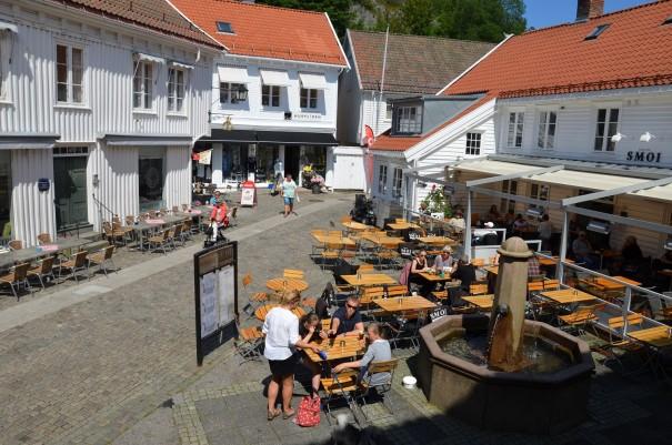 Ja ... und hier haben wir auch gesessen und uns mit norwegischen Köstlichkeiten verwöhnen lassen! ©entdecker-greise.de