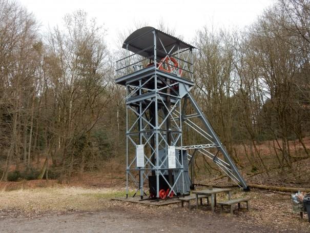 Der Franziskaturm - eine Station auf dem Bergbauweg ©entdecker-greise.de