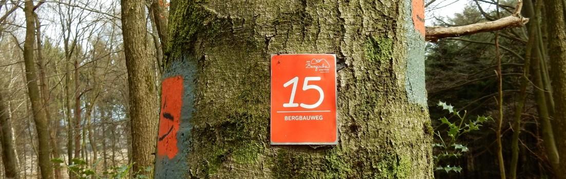 Durchgängige und lückenlose Wegmakierung auf dem Bergbauweg. ©entdecker-greise.de
