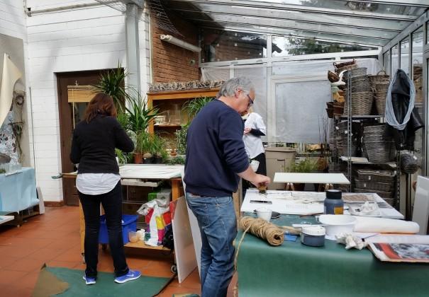 Jeder Teilnehmer ist in sein Werk vertieft ... und ganz bei sich! ©entdecker-greise.de