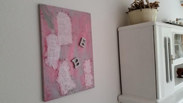 Mein Kunstwerk Leben passt herrlich in mein Wohnzimmer ... ©entdecker-greise.de