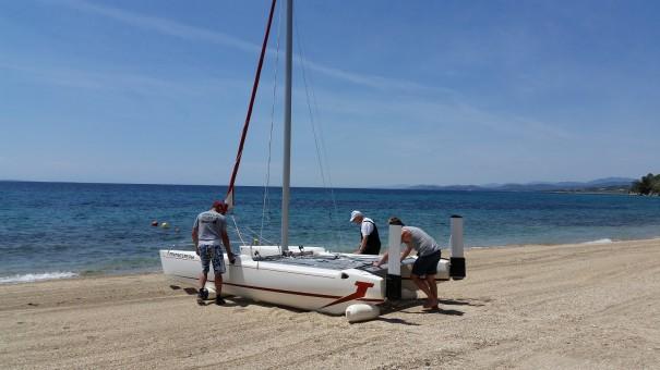 Erst kommt die Arbeit, dann das Vergnügen - auch beim Segeln mit dem Katamaran ©www.entdecker-greise.de #corfelios